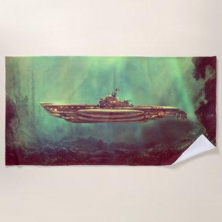 Goldener Piraten-Unterwasserbadetuch Strandtuch