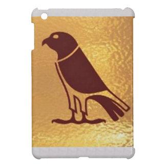 Goldener RAUBVOGEL Eagle-Falke-Eulen-grafische iPad Mini Hüllen