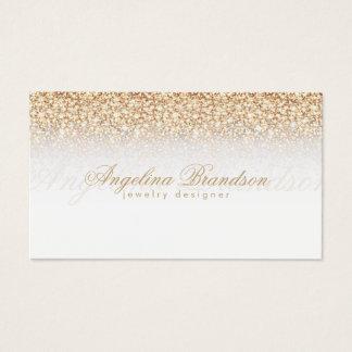 Goldener Regen-Schmuck-Designer-Weiß-Karte Visitenkarte