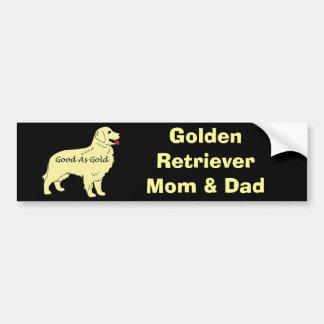 Goldener Retriever-Autoaufkleber Autoaufkleber
