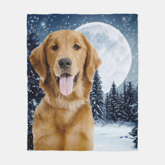 Goldener Retriever-Fleece-Decke Fleecedecke