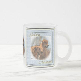 Goldener Retriever-Geschenk-goldene Kunst-Tassen Mattglastasse