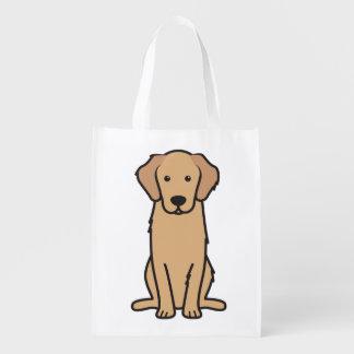 Goldener Retriever-HundeCartoon Einkaufsbeutel