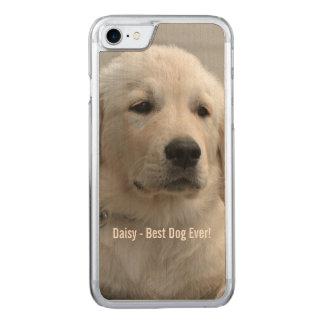 Goldener Retriever-HundeFoto und -name Carved iPhone 8/7 Hülle