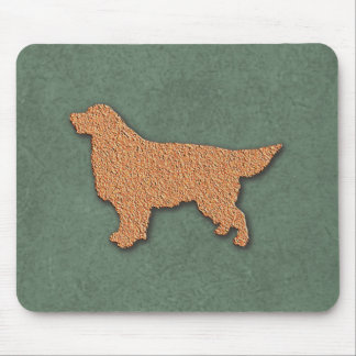 Goldener Retriever-HundeSilhouette Mousepad