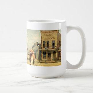 Goldener Retriever in der AWestern StadtTasse Kaffeetasse