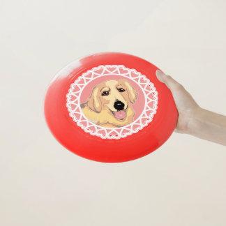 Goldener Retriever-Liebe Wham-O Frisbee