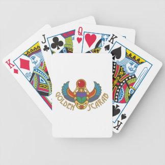 Goldener Scarabäus Bicycle Spielkarten