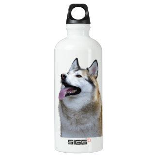 Goldener Schlittenhund Aluminiumwasserflasche