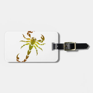 Goldener Skorpion Gepäckanhänger
