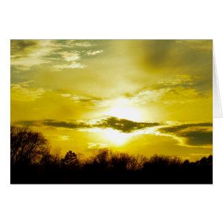 Goldener Sonnenuntergang Karte