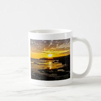 Goldener Sonnenuntergang Tasse