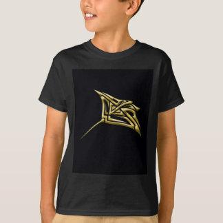 Goldener Stammes- Stingray T-Shirt