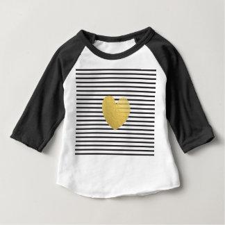Goldener Stern der modernen Schwarz-weißen Baby T-shirt