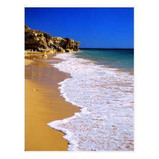 Goldener Strand Portugals Postkarte