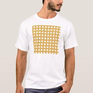 Goldener Streifenhintergrund T-Shirt
