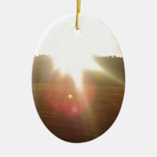 Goldener Sun 2 Keramik Ornament