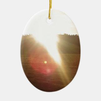 Goldener Sun 3 Keramik Ornament