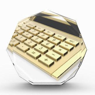 Goldener Taschenrechner Acryl Auszeichnung