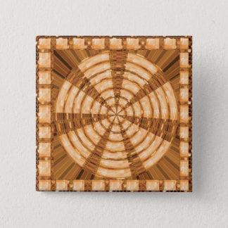 Goldener Templetes addieren TEXT-FOTO Slogan-Zitat Quadratischer Button 5,1 Cm