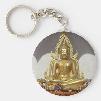 Goldener thailändischer Buddha Schlüsselanhänger