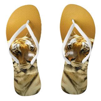 Goldener Tiger Flip Flops