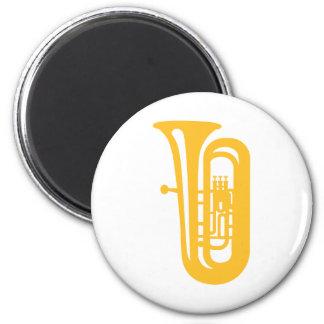 Goldener Tuba Runder Magnet 5,1 Cm