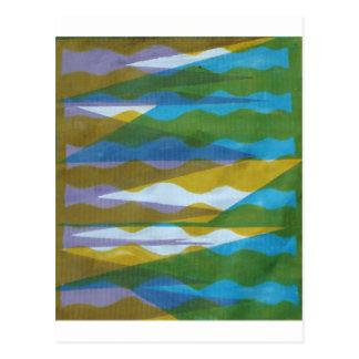 Goldener Türkis-Lavendel Postkarte