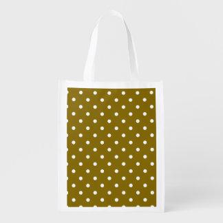 Goldener Ulmen-Tupfen-wiederverwendbare Wiederverwendbare Einkaufstaschen