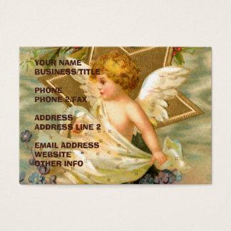 Goldener Vintager Engel der Visitenkarte