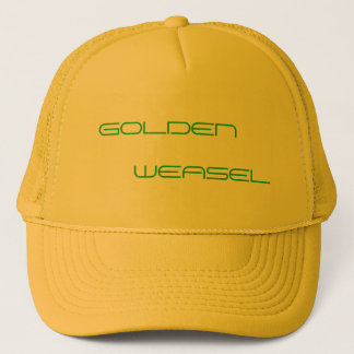 GOLDENER WEASEL-HUT TRUCKERKAPPE
