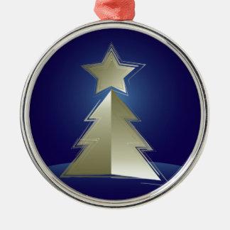 Goldener Weihnachtsbaum Silbernes Ornament