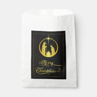 Goldener Weihnachtssegen Geschenktütchen