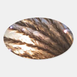 Goldener Weizen-helle Strahlen mit einer Ovaler Aufkleber