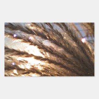 Goldener Weizen-helle Strahlen mit einer Rechteckiger Aufkleber