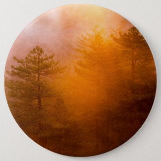 Goldener Winden-Wald Runder Button 15,3 Cm