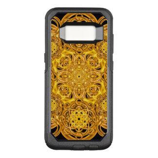 Goldener WirbelMandala OtterBox Commuter Samsung Galaxy S8 Hülle