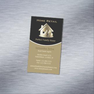 Goldener wirklicher Anwesen-Agent-perfektes Visitenkartenmagnet