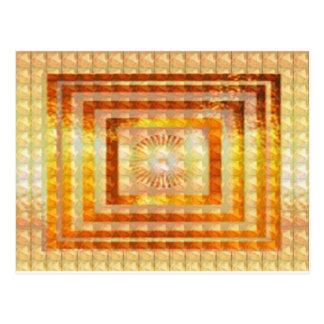GOLDenergie KUNST - Lächeln genießt Anteil-Freude Postkarten