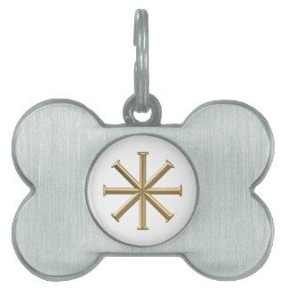 """Goldenes """"3-D"""" Baptismal Kreuz Tiermarke"""