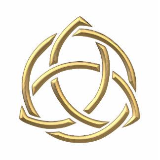 """Goldenes """"3-D"""" Dreifaltigkeit-Symbol 2 Freistehende Fotoskulptur"""
