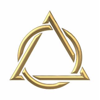 """Goldenes """"3-D"""" Dreifaltigkeit-Symbol Freistehende Fotoskulptur"""