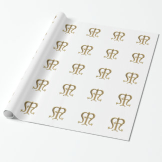 """Goldenes """"3-D"""" Geschenkpapier"""
