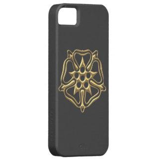 """Goldenes """"3-D"""" Rosen-Symbol iPhone 5 Etui"""