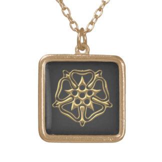 """Goldenes """"3-D"""" Rosen-Symbol Vergoldete Kette"""