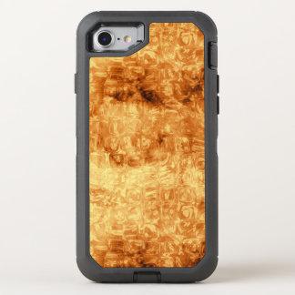 Goldenes abstraktes Gänseblümchen-Muster OtterBox Defender iPhone 8/7 Hülle