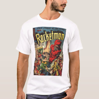 Goldenes Alters-Comic-Kunst - Rocketman T-Shirt