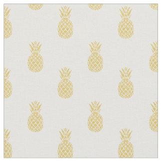 Goldenes Ananas-Muster-Baumwollgewebe Stoff