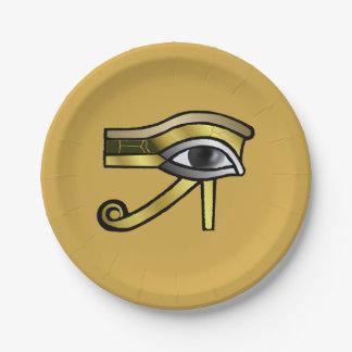 Goldenes Auge von Horus Pappteller