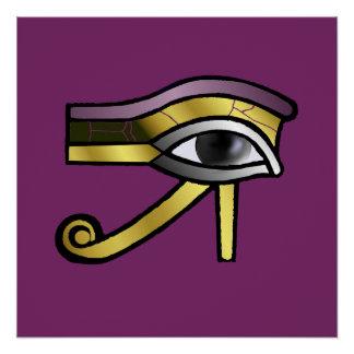 Goldenes Auge von Horus Poster
